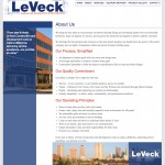 LeVeck Construction About Screenshot